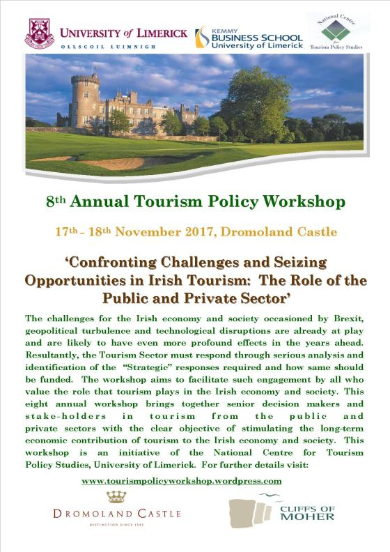 8th Annual Tourism Policy Workshop November 17th - 18th 2017